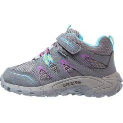 Merrell HILLTOP QUICKCLOSE Obuwie hikingowe grey/multicolor. Niebieskie buty sportowe chłopięce marki Merrell, z materiału. W wyprzedaży za 188,30 zł.