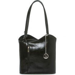 Torebki klasyczne damskie: Skórzana torebka w kolorze czarnym – 28 x 55 x 9 cm