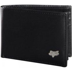 FOX Portfel Męski Czarny Bifold Leather. Szare portfele męskie marki FOX, z bawełny. Za 201,00 zł.