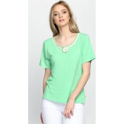 T-shirty damskie: Jasnozielony T-shirt Swash