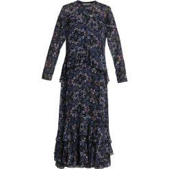 POSTYR POSVIOLA LONG DRESS Długa sukienka black. Czarne długie sukienki POSTYR, z materiału, z długim rękawem. Za 929,00 zł.