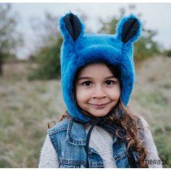 Czapka bonetka z uszami miś niebieski. Niebieskie czapeczki niemowlęce marki Pakamera. Za 98,00 zł.