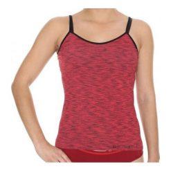 Bluzki sportowe damskie: Brubeck Koszulka damska Camisola Fusion czerwona r. XL (CM10110)