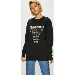 Reebok Classic - Bluza. Czarne bluzy z nadrukiem damskie marki Reebok Classic, l, z bawełny, bez kaptura. W wyprzedaży za 219,90 zł.