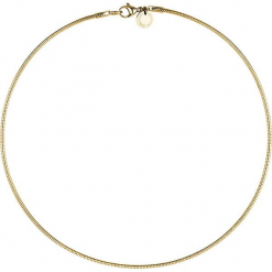 Naszyjnik - dł. 38 cm. Żółte naszyjniki damskie s.Oliver & Liebeskind, ze stali. W wyprzedaży za 117,95 zł.