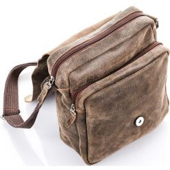RUSSEL Torba ze skóry Męska Paolo Peruzzi Brązowa. Brązowe torby na ramię męskie marki Kazar, ze skóry, przez ramię, małe. Za 219,00 zł.