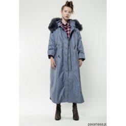 41928e34bf263 Jeansowa damska całoroczna parka. Szare płaszcze damskie Pakamera, na zimę,  bez wzorów,