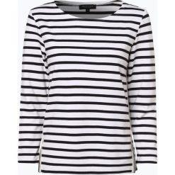 Marie Lund - Damska koszulka z długim rękawem, beżowy. Brązowe t-shirty damskie Marie Lund, l, prążkowane, z kontrastowym kołnierzykiem. Za 179,95 zł.