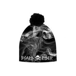Czapka hauer BOARD RIDER. Czarne czapki zimowe męskie marki Hauer, z nadrukiem, z polaru. Za 69,00 zł.