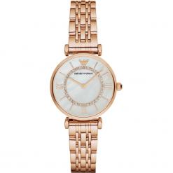 Zegarki damskie: Zegarek EMPORIO ARMANI – Gianni T-Bar AR1909 Rose Gold/Rose Gold