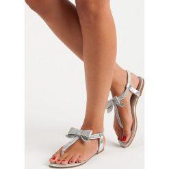 Sandały damskie: LUNA sandały japonki z gumką szare