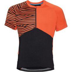Odlo Koszulka rowerowa Shirt s/s 1/2 zip Morzine czarno-pomarańczowa r. L (411492). Brązowe odzież rowerowa męska marki Odlo, l. Za 176,53 zł.