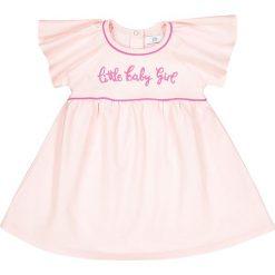 Sukienka z moltonu, rękaw-falbanka, 1 mies. - 3 lata. Czerwone sukienki niemowlęce La Redoute Collections, z bawełny, z krótkim rękawem, krótkie, mini. Za 70,52 zł.