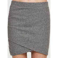 Spódniczki: Spódnica z kopertową zakładką - Jasny szar