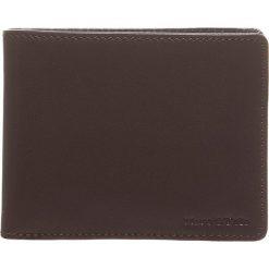 Portfele męskie: Skórzany portfel w kolorze brązowym - 10 x 8 x 2,5 cm