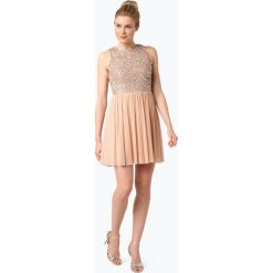 Sukienki: Marie Lund – Damska sukienka koktajlowa, beżowy