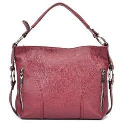 Torebki i plecaki damskie: Skórzana torebka w kolorze bordowym – (S)25 x (W)32 x (G)8,5 cm