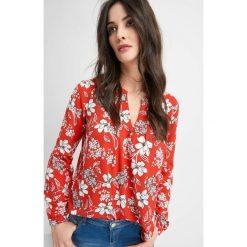 Bluzki damskie: Luźna bluzka w kwiaty