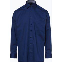 OLYMP Luxor comfort fit - Koszula męska niewymagająca prasowania, niebieski. Niebieskie koszule męskie na spinki marki OLYMP Luxor comfort fit, m, z materiału, z klasycznym kołnierzykiem. Za 199,95 zł.