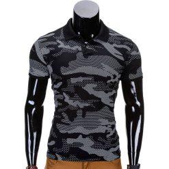 KOSZULKA MĘSKA POLO Z NADRUKIEM MORO S754 - CZARNA. Czarne koszulki polo Ombre Clothing, m, moro, z bawełny. Za 45,00 zł.
