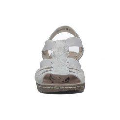 Sandały Casu  Szare sandały skórzane na koturnie  DS056/18GR. Szare sandały damskie marki Casu, na koturnie. Za 79,99 zł.
