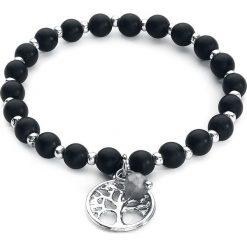 EtNox Tree Of Life Bransoletka czarny/srebrny. Czarne bransoletki damskie na nogę etNox, srebrne. Za 42,90 zł.