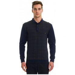 Galvanni Koszulka Polo Męska Fictile M, Ciemnoniebieski. Czarne koszulki polo GALVANNI, m, w kratkę, z materiału. W wyprzedaży za 189,00 zł.
