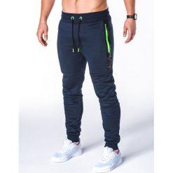 Spodnie męskie: SPODNIE MĘSKIE DRESOWE P657 – GRANATOWE