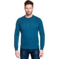 Sweter PIETRO SWZ000075. Czarne swetry klasyczne męskie marki Giacomo Conti, m, z bawełny, z klasycznym kołnierzykiem. Za 299,00 zł.