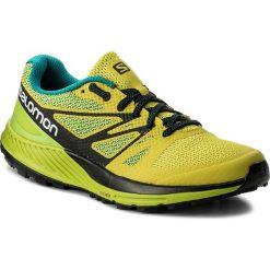 Buty SALOMON - Sense Escape 400920 27 W0 Sulphur Spring/Lime Green/Black. Zielone buty do biegania męskie Salomon, z materiału. W wyprzedaży za 319,00 zł.