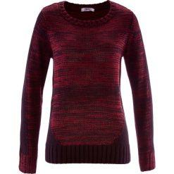 Swetry klasyczne damskie: Sweter, długi rękaw bonprix czerwony klonowy melanż