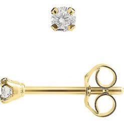 Biżuteria i zegarki: Złote kolczyki-wkrętki z diamentami