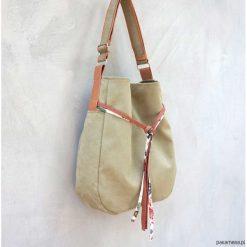 SIMPLY BAG - duża torba worek - oliwka. Szare torebki klasyczne damskie marki Pakamera, duże. Za 148,00 zł.