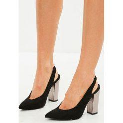 Missguided - Czółenka. Szare buty ślubne damskie Missguided, z materiału, na obcasie. W wyprzedaży za 99,90 zł.