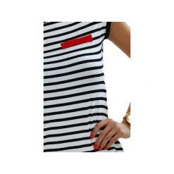 Tunika w marynarskie paski. Białe tuniki damskie marki Knitcat, l, w paski. Za 119,00 zł.