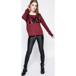 Vero Moda - Bluza Diddle. Brązowe bluzy z nadrukiem damskie Vero Moda, l, z bawełny, bez kaptura. W wyprzedaży za 49,90 zł.