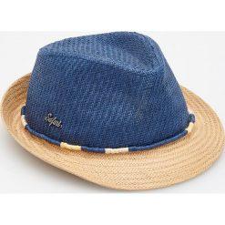 Kapelusze męskie: Pleciony kapelusz - Granatowy