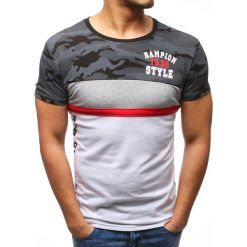T-shirty męskie z nadrukiem: T-shirt męski z nadrukiem czarny (rx2759)