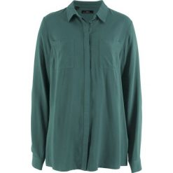 Bluzki damskie: Bluzka koszulowa z wiskozy, długi rękaw bonprix zielony wojskowy