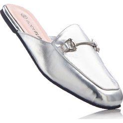 Chodaki damskie: Klapki bonprix srebrny metaliczny