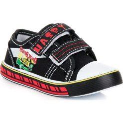 Chłopięce trampki na rzep TESSA. Czarne buty sportowe chłopięce HASBY, sportowe. Za 36,90 zł.