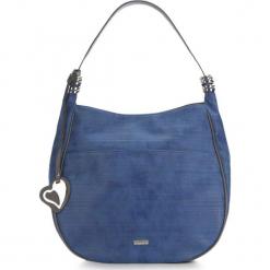 Torebka damska 87-4Y-750-7. Niebieskie shopper bag damskie Wittchen, w geometryczne wzory. Za 129,00 zł.