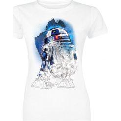 Bluzki asymetryczne: Star Wars Episode 8 - The Last Jedi - R2D2 Koszulka damska biały