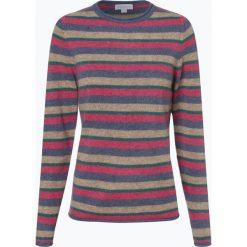 Brookshire - Sweter damski, niebieski. Czarne swetry klasyczne damskie marki brookshire, m, w paski, z dżerseju. Za 229,95 zł.