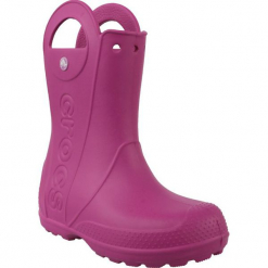 Buty dziecięce Handle Rain Boot różowe r. 32-33 (12803). Czerwone buciki niemowlęce marki Crocs. Za 108,26 zł.