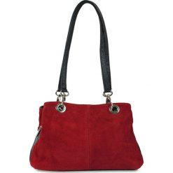 """Torebki klasyczne damskie: Skórzana torebka """"Giselle"""" w kolorze czerwonym – 30 x 20 x 10 cm"""