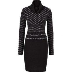 Sukienki hiszpanki: Sukienka dzianinowa bonprix czarno-szary
