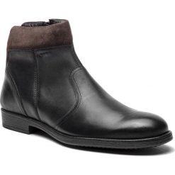 Kozaki GEOX - U Jaylon K U84Y7K 0EM22 C9355 Black/Mud. Czarne buty zimowe męskie Geox, z materiału. W wyprzedaży za 439,00 zł.