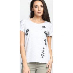 Jasnoszary T-shirt Getting Over. Szare bluzki damskie Born2be, l. Za 49,99 zł.