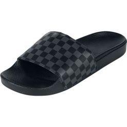 Vans Slide-On Checkerboard Sandały czarny/szary. Czarne sandały męskie marki Vans, z tworzywa sztucznego, z paskami. Za 79,90 zł.